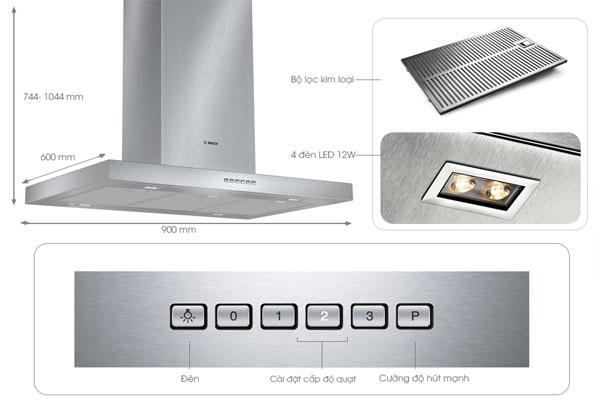 Hình ảnh thực tế máy hút mùi Bosch DIB097A50