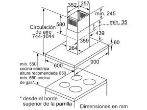 Máy hút mùi Bosch DIB097A50 3