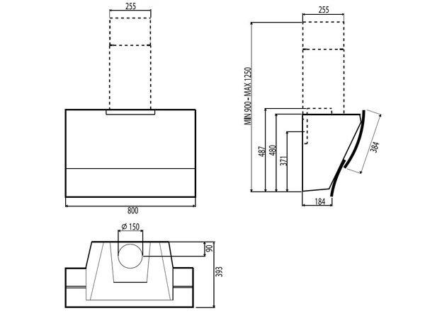 Máy hút mùi Hafele HH-WVG80C 2