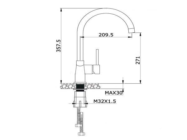 Vòi rửa bát Konox KN1203 2