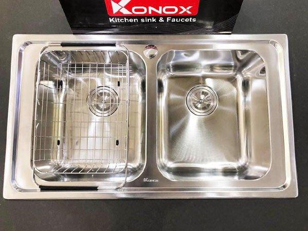 Chậu rửa bát Konox PREMIUM KS8650 2B 2