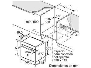 Lò nướng âm tủ Bosch HBG635BB1 3