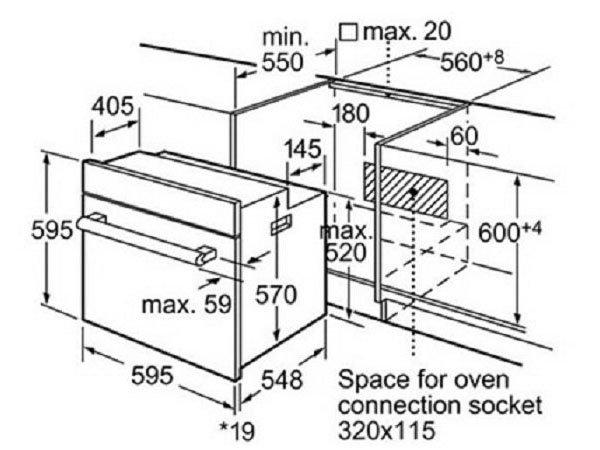 Lò nướng Bosch HBG655HS1 2