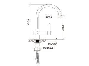 Vòi rửa bát Konox KN1003G 3