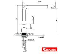 Vòi rửa bát Konox KN1205 3
