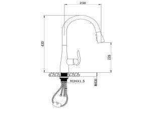 Vòi rửa bát Konox KN1226 3