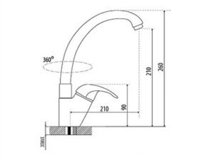 Vòi rửa bát Malloca K121 3