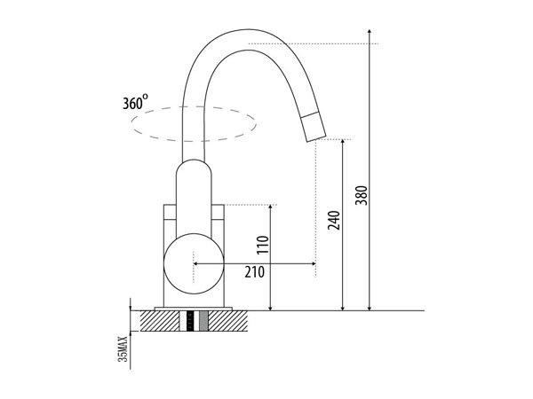Vòi rửa bát Malloca K119-T1 2
