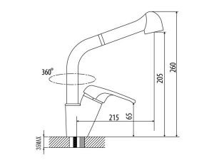 Vòi rửa bát Malloca K119-T4 3