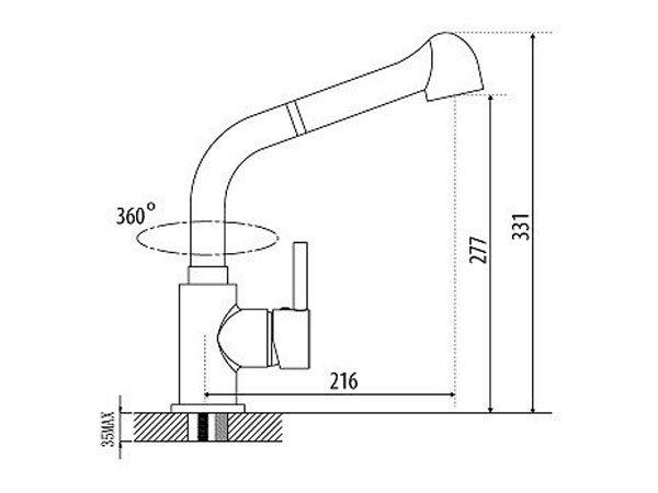 Vòi rửa bát Malloca K119-T9 2