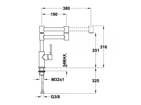 Vòi rửa bát Teka INX 983 2