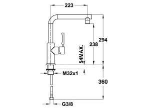 Vòi rửa bát Teka INX 914 3