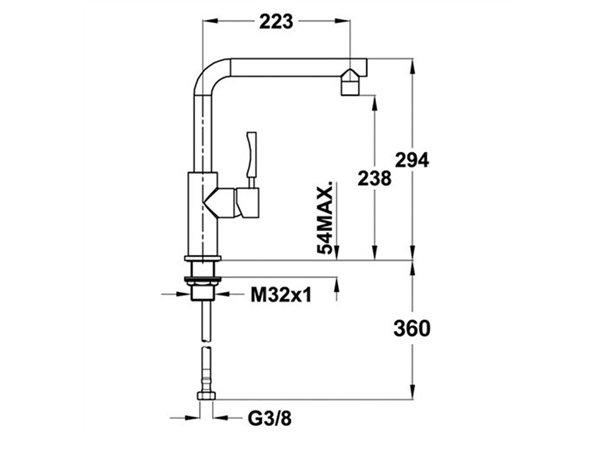 Vòi rửa bát Teka INX 914 2