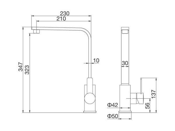 Vòi rửa bát Malloca K589-S 2
