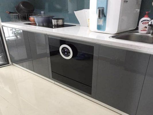 Hình ảnh lắp đặt thực tế bên trong máy rửa bát Texgio TG-BI205