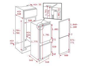 Tủ lạnh Teka CI3 350 NF 3