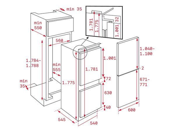 Tủ lạnh Teka CI3 350 NF 2