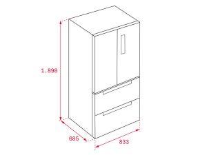 Tủ lạnh Teka RFD 77820 GBK 4