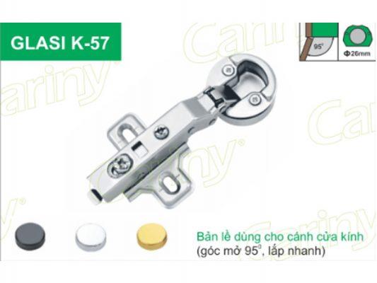Bản lề giảm chấn Cariny GLASI K57 1