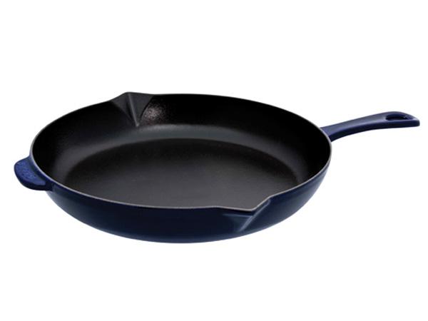 Chảo gang Staub Cast Iron Pot tròn 30 Blue 1