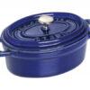 Noi gang Staub Cast Iron Pot Oval 11 Blue