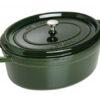 Noi gang Staub Cast Iron Pot Oval 31 Green