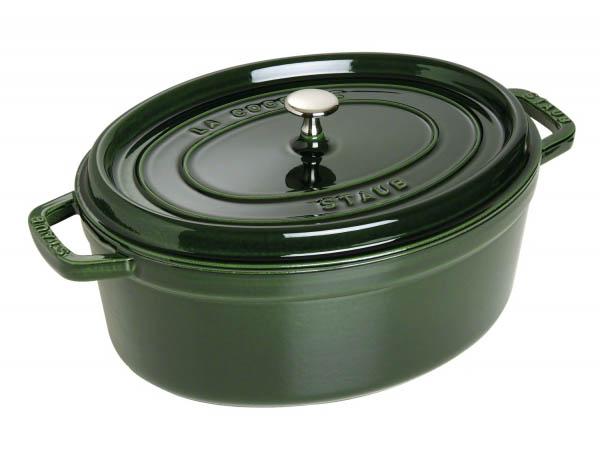 Nồi gang Staub Cast Iron Pot Oval 31 Green 1