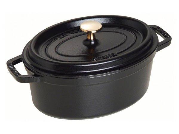 Noi gang Staub Cast Iron Pot Oval 37 Black