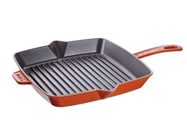 Chảo gang Staub Cast Iron Pot vuông 26 Brown 1