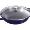 chao gang staub cast iron pot wok 29 blue