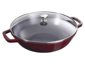 chao gang staub cast iron pot wok 29 cherry