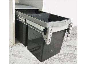 Thùng đựng rác đôi lắp âm tủ Eurogold EB300/EB300M