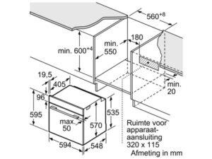 Lò nướng âm tủ bếp Bosch HBA534BS0A 3