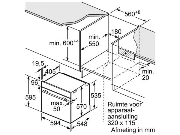 Lò nướng âm tủ bếp Bosch HBA534BS0A 2