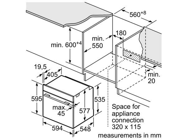Lò nướng âm tủ bếp Bosch HBG633BS1J 2