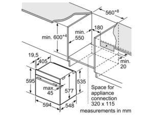 Lò nướng âm tủ bếp Bosch HBG655HS1A 3