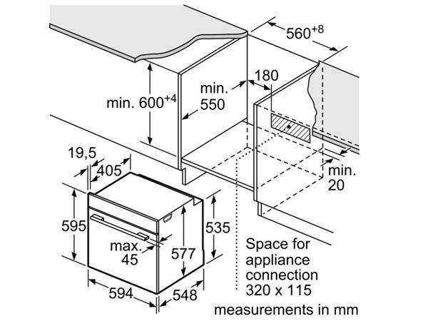Lò nướng âm tủ bếp Bosch HBG656RS1B 2