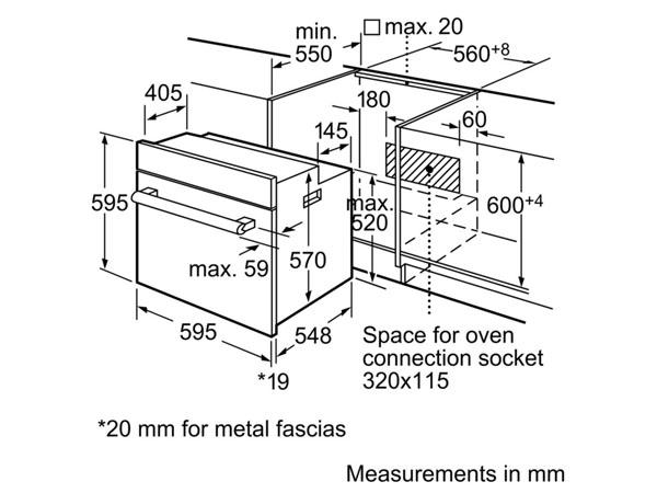 Lò nướng âm tủ bếp Bosch HBN559E1M 2