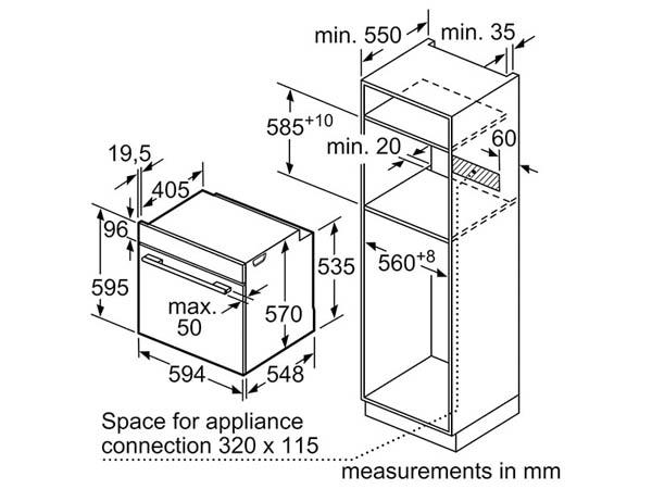 Lò nướng âm tủ Bosch HBF113BR0A 2
