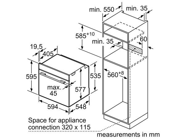 Lò nướng âm tủ Bosch HBG634BB1B 2