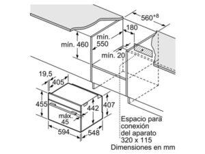 Lò nướng kèm vi sóng Bosch CMG633BB1 3