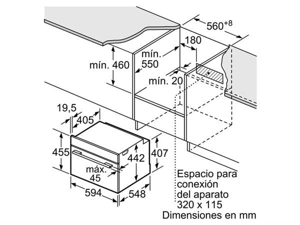 Lò nướng kèm vi sóng Bosch CMG633BB1 2