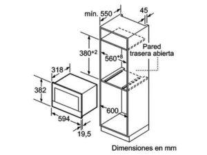 Lò vi sóng âm tủ Bosch BFL634GB1B 3