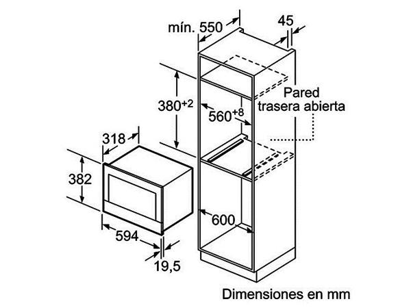 Lò vi sóng âm tủ Bosch BFL634GB1B 2