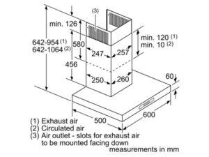 Máy hút mùi Bosch DWB06W850B 3