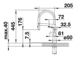 Vòi rửa chén bát inox 304 Blanco SOLENTA-S 3