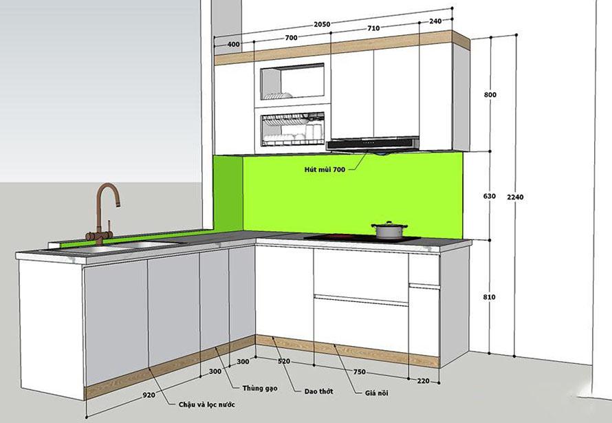 bản vẽ thiết kế phụ kiện tủ bếp