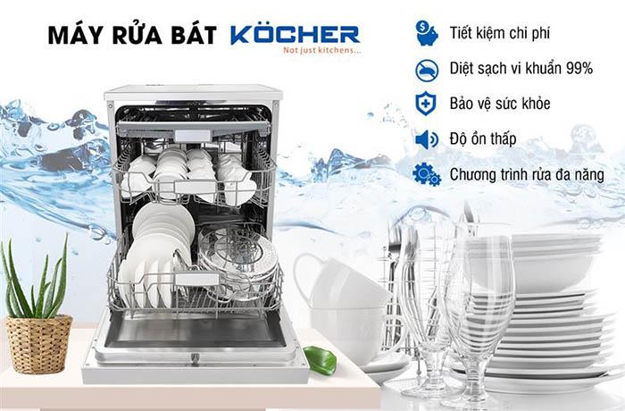 máy rửa chén Kocher có tốt không