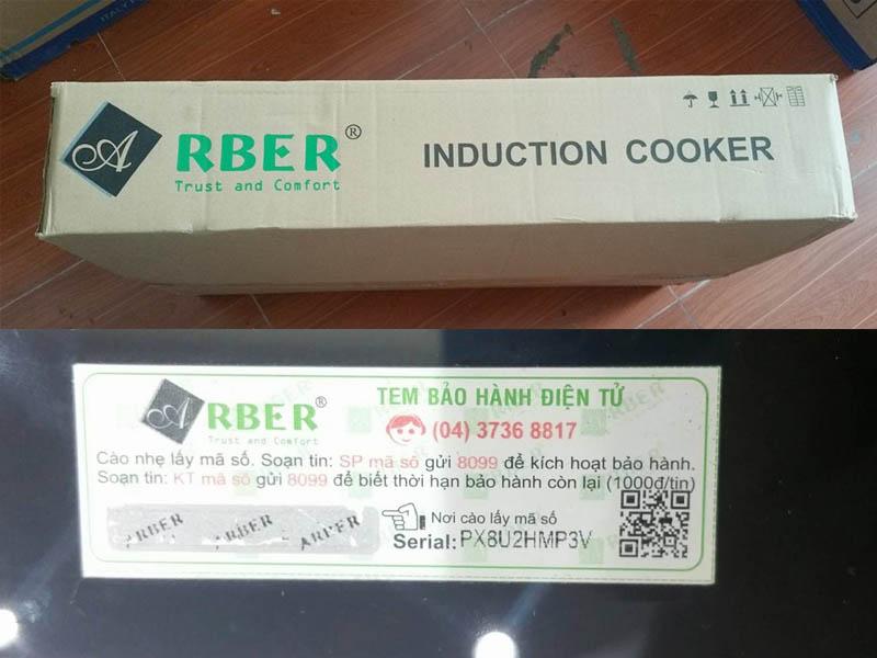 tem sản phẩm vỏ thùng bếp từ Arber giá rẻ
