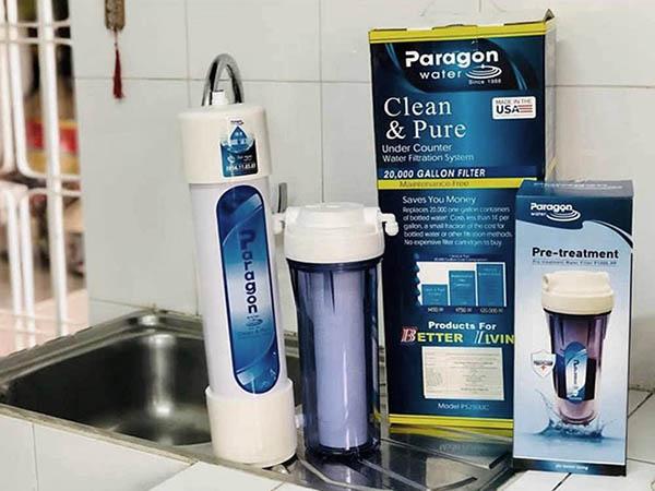 Tem vỏ hộp máy lọc nước Paragon